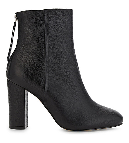 REISS Odelle leather ankle boots (Black
