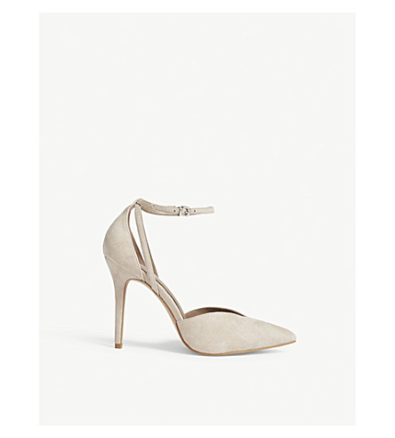 REISS Katya suede sandals (Nude