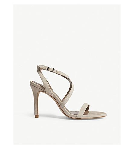 REISS Medea suede sandals (Nude