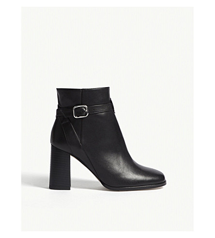 REISS Fulham leather heeled boots (Black