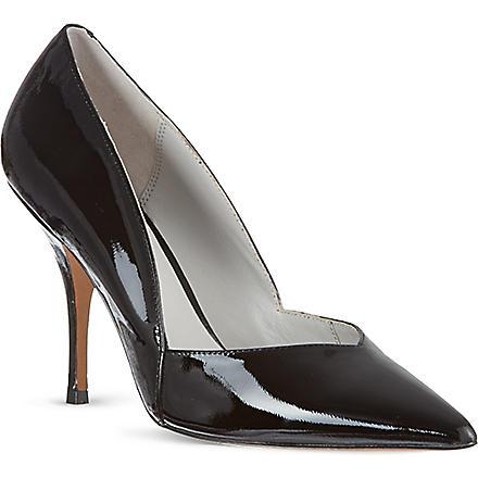 REISS Arya mid-heel courts (Black/white