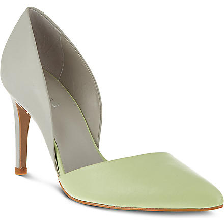 REISS Brina asymmetric court shoes (Mint