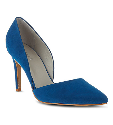 REISS Brina asymmetric court shoes (Blue