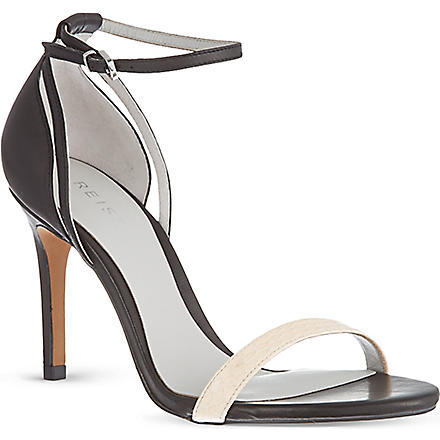 REISS Malva snake sandals (Biscuit