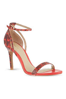 REISS Malva snake sandals
