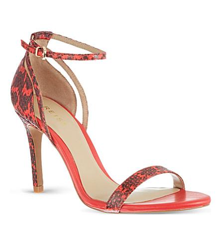 REISS Malva snake sandals (Paprika