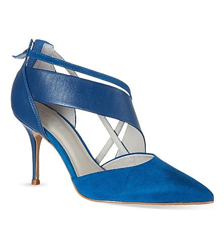 REISS Emerald court shoes (Blue