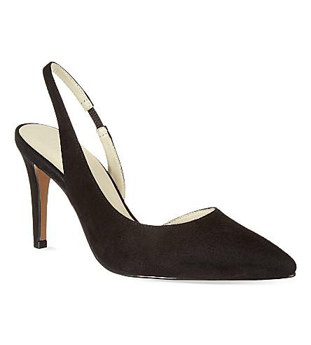 REISS Allie court shoes (Black