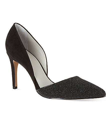REISS Brina court shoes (Black