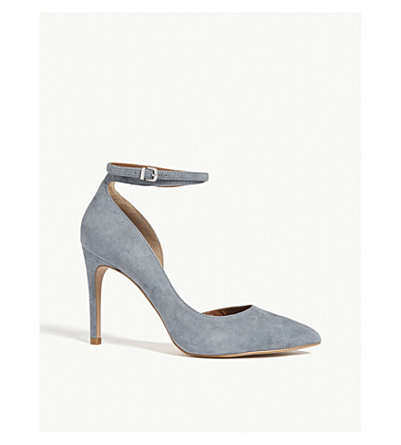 REISS Lya ankle strap leather courts