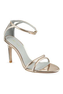 REISS Peony metallic stiletto sandals