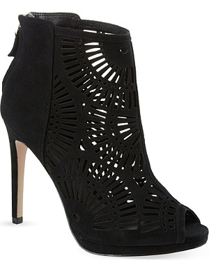REISS Jasmin laser cut ankle boots