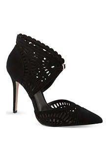 REISS Lupin laser cut ankle boots