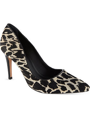 REISS Animal print court shoes