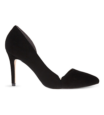 REISS Venus suede courts (Black