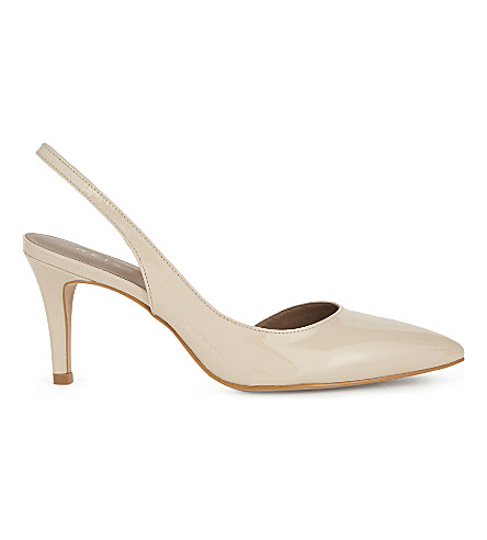 REISS Alexa slingback patent-leather courts (Nude