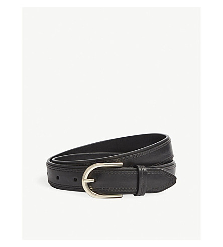 REISS Viola leather belt (Black