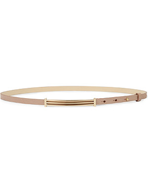 REISS Archer slim snake-print belt