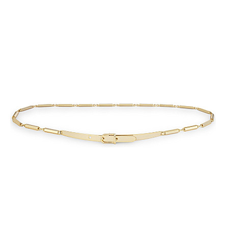 REISS Charlie metal chain belt (Gold