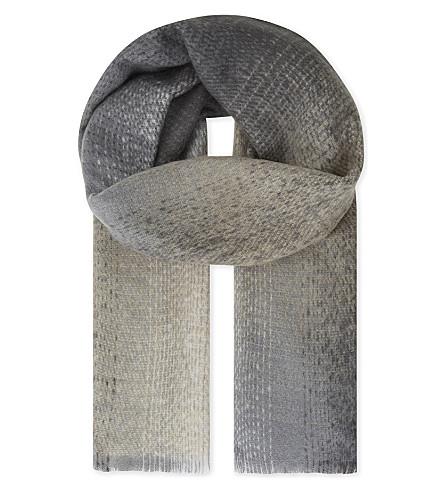 REISS Sara Degrade woven scarf (Grey