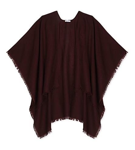 REISS Yasmine shawl (Berry