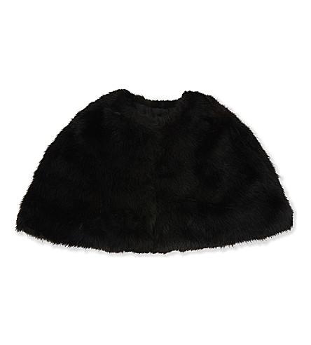 REISS Cortland faux-fur stole (Black