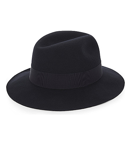 REISS Ava wool fedora (Black