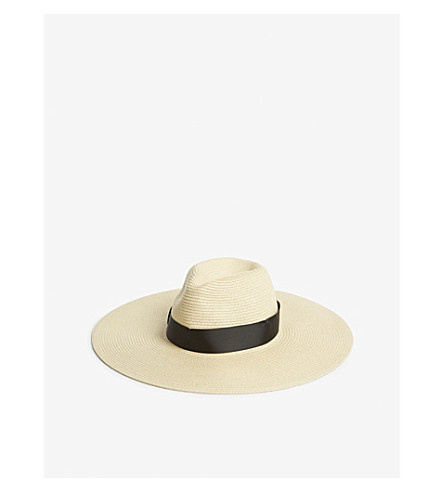 REISS Hallie wide-brimmed hat (Natural