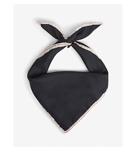 REISS Twiggy plain silk scarf (Apricot/black