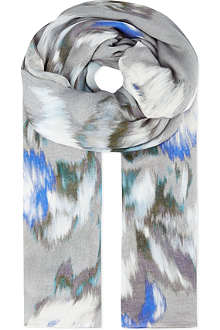 REISS Maud blurred bloom scarf