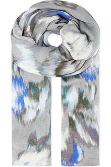 REISS Maud blurred bloom scarf