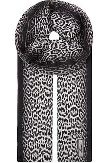 REISS Leopard print scarf