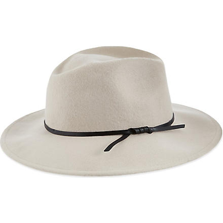 REISS Wool trilby hat (Flesh