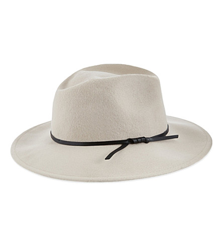 REISS Wool trilby hat (Flesh