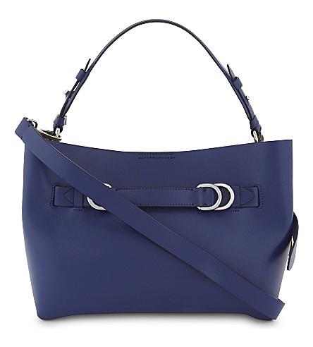 REISS Bleecker leather shoulder bag (Blue