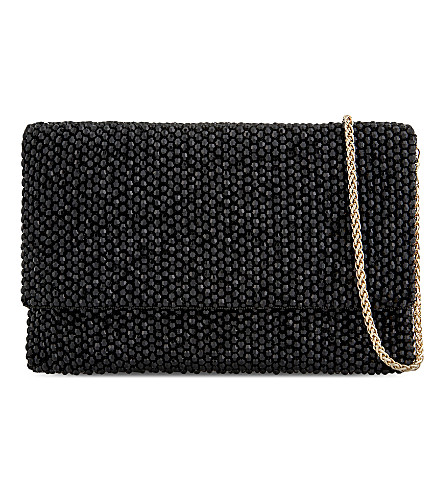 REISS Minty embellished clutch (Black
