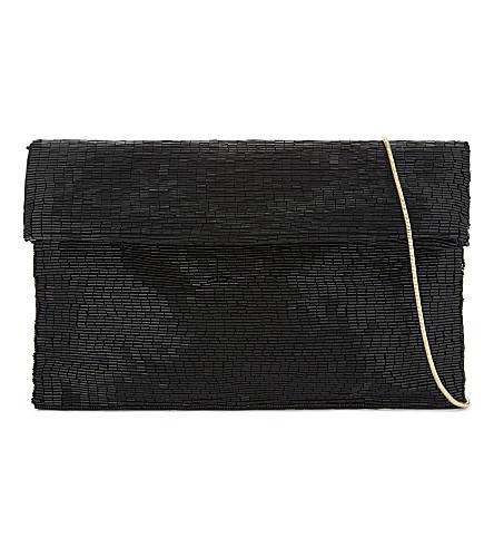 REISS Nella beaded cross-body bag (Black