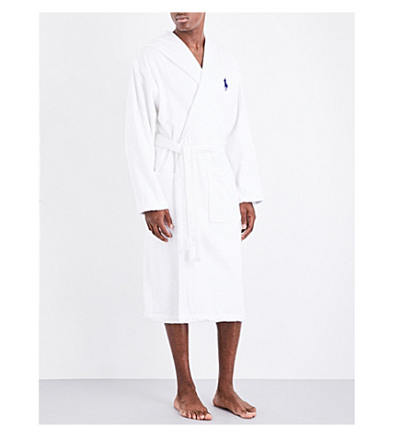 RALPH LAUREN HOME Big player cotton dressing gown (White