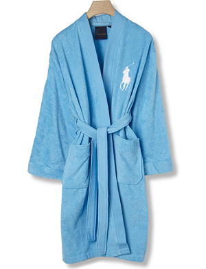 RALPH LAUREN HOME Big player bath robe lagoon