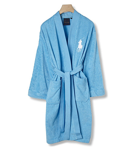 RALPH LAUREN HOME Big player bath robe lagoon (Lagoon