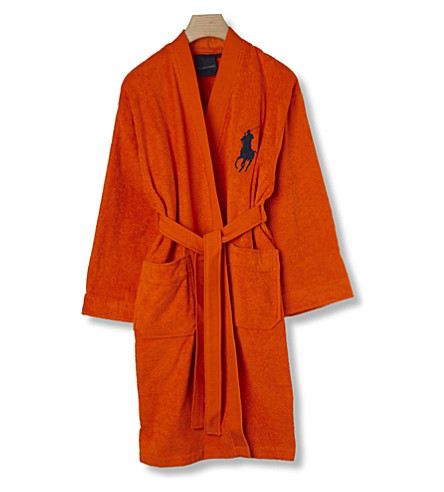 RALPH LAUREN HOME Big player cotton robe orange (Orange