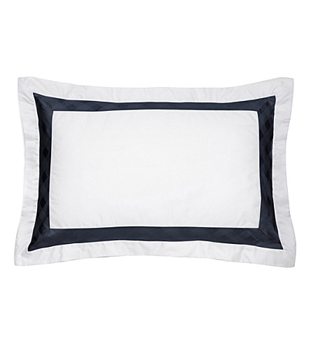 RALPH LAUREN HOME Glen Plaid boudoir sham pillowcase (Navy