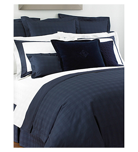 RALPH LAUREN HOME Glen Plaid cotton-sateen pillowcase (Navy