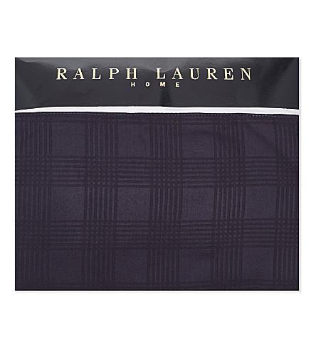 RALPH LAUREN HOME Glen Plaid cotton-sateen flat sheet (Navy