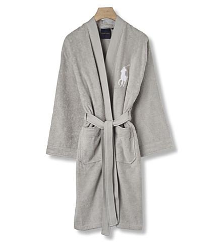 RALPH LAUREN HOME Big player cotton robe grey (Grey