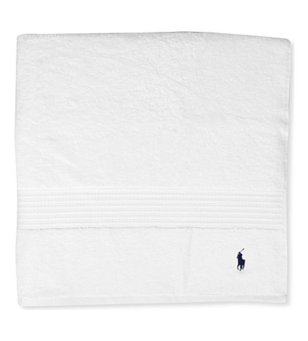 RALPH LAUREN HOME Player guest towel white (White