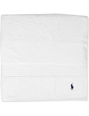 RALPH LAUREN HOME Player guest towel white