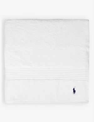 RALPH LAUREN HOME Player bath sheet white