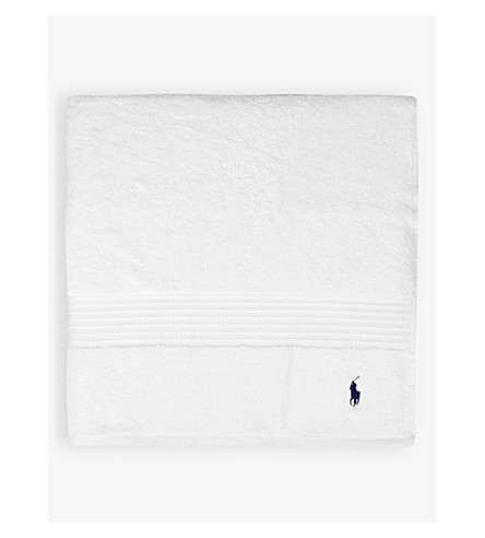RALPH LAUREN HOME Player bath sheet (White