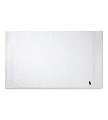RALPH LAUREN HOME Player white bath mat (White